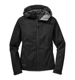 Outdoor Research Women's Transfer Hooded Jacket, Black, Small - 1