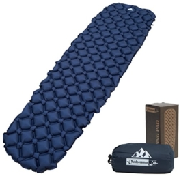 OutdoorsmanLab Ultralight Sleeping Pad - Ultra-Compact for Backpacking, Camping, Travel w Air-Support Cells Design (Blue) - 1
