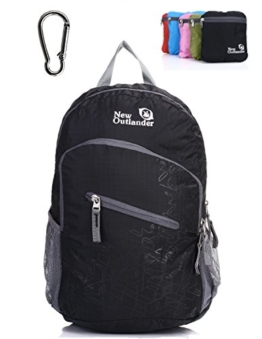 Outlander Packable Handy Lightweight Travel Hiking Backpack Daypack-Black-L - 1
