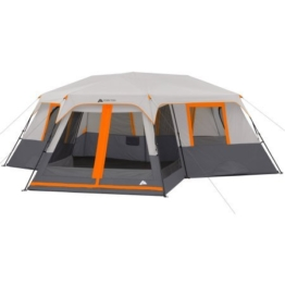 Ozark Trail 12-Person 3-Room Instant Cabin Tent with Screen Room (Orange) - 1
