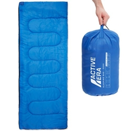 Premium Lightweight Single Sleeping Bag – Warm and Water Resistant, Perfect for Indoor Use or Outdoor Camping, Hiking, Fishing & Travelling - 1