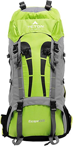 TETON SPORTS Escape 4300 Ultralight Internal Frame Backpack – Not Your Basic Backpack; High-Performance Backpack for Hiking, Camping, Travel, and Outdoor Activities; Sewn-In Rain Cover - 1