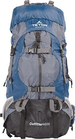 TETON Sports Outfitter 4600 Ultralight Internal Frame Backpack – Not Your Basic Backpack; High-Performance Backpack for Hiking, Camping, Travel, and Outdoor Activities; Sewn-In Rain Cover - 1