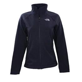 The North Face Womens TNF Black Ironton Soft Shell Fleece Jacket - 1