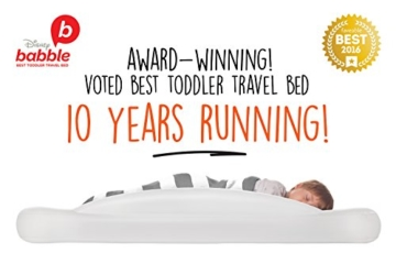 The Shrunks Toddler Travel Bed Portable Inflatable Air Mattress Bed for Travel, Camp or Home Use, Kids Size with Security Rails 60 x 37 x 9 inches - - 3