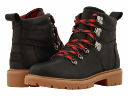 TOMS Summit Waterproof Boot (Black Waterproof Leather) Women's Hiking Boots