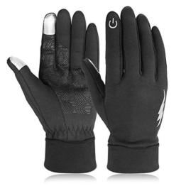 Touchsreen Winter Gloves for Men Women Driving Thermal Running Hiking Black