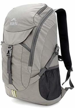 Venture Pal Hiking Backpack - Packable Durable Lightweight Travel Backpack Daypack for Women Men(Grey) - 1