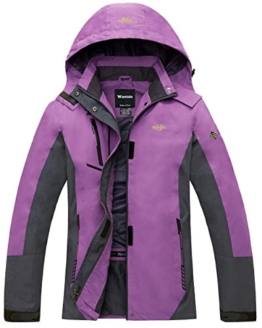 Wantdo Women's Quick Dry Fabric with Warm Jacket for Mountain Purple US S - 1