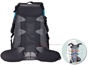 WASING 55L Internal Frame Backpack for Outdoor Hiking Travel Climbing Camping Mountaineering with Rain Cover WS-55Lpack-darkblue - 3