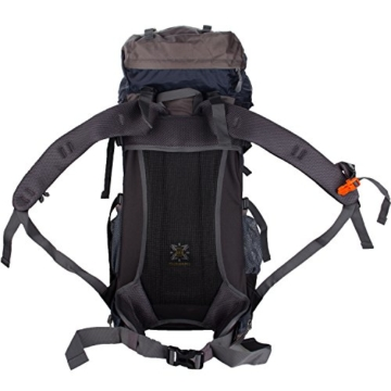 WASING 55L Internal Frame Backpack for Outdoor Hiking Travel Climbing Camping Mountaineering with Rain Cover WS-55Lpack-darkblue - 4