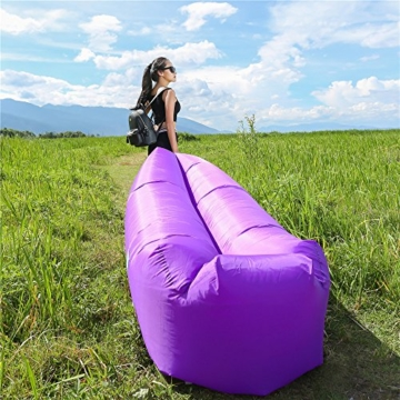 WEKAPO Inflatable Lounger Air Sofa Hammock-Portable,Water Proof& Anti-Air Leaking Design-Ideal Couch for Backyard Lakeside Beach Traveling Camping Picnics & Music Festivals - 2
