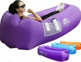 WEKAPO Inflatable Lounger Air Sofa Hammock-Portable,Water Proof& Anti-Air Leaking Design-Ideal Couch for Backyard Lakeside Beach Traveling Camping Picnics & Music Festivals - 1