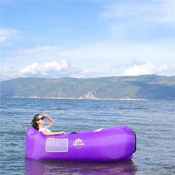 WEKAPO Inflatable Lounger Air Sofa Hammock-Portable,Water Proof& Anti-Air Leaking Design-Ideal Couch for Backyard Lakeside Beach Traveling Camping Picnics & Music Festivals - 6