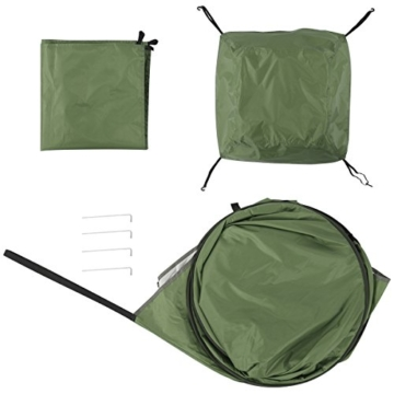 WolfWise Shower Tent Privacy Portable Camping Beach Toilet Pop Up Tents Changing Dressing Room Outdoor Backpack Shelter Green - 9