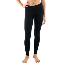 Woolx Avery - Women's Wool Leggings - Midweight Merino Base Layer Bottoms - Warm & Soft, X-Large, Black - 1