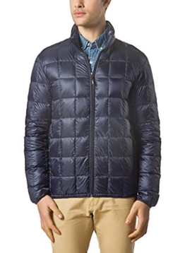 XPOSURZONE Men Packable Down Quilted Puffer Jacket Lightweight Puffer Coat Midnight Navy M - 1