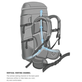 Terra 50 hiking backpack with 51 liter capacity
